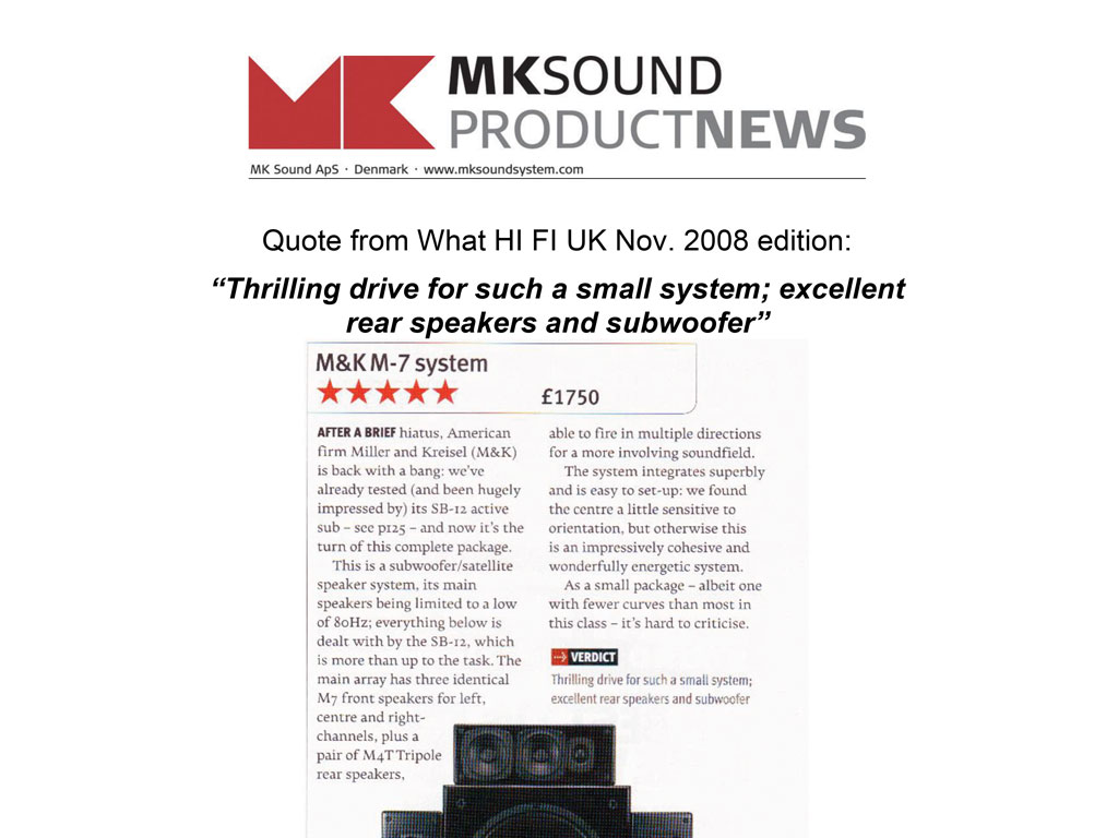 Reviews - M&K Sound® | Official Site