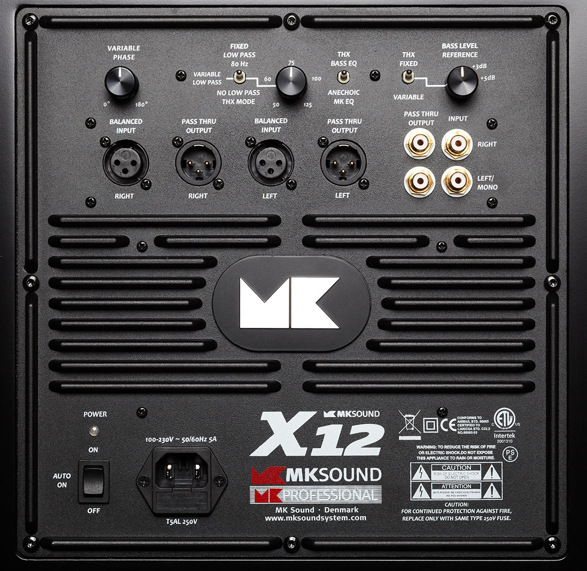 X10 Subwoofer Mk Sound Wiring Devices Qatar Integrates Woofer And Amplifcation To Achieve Elegance Brute Force In A High Tech Low Profile Package That Proves Defnitively Fast